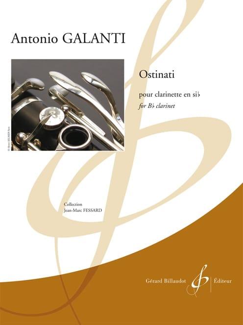 Ostinati - Antonio Galanti - Partition - Clarinette - laflutedepan.com