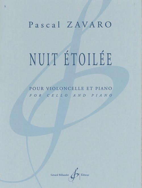 Nuit Etoilée - Pascal Zavaro - Partition - laflutedepan.com