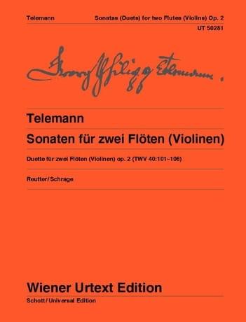 Sonates Pour 2 Flûtes Opus 2 - Twv40:101-106 - laflutedepan.com