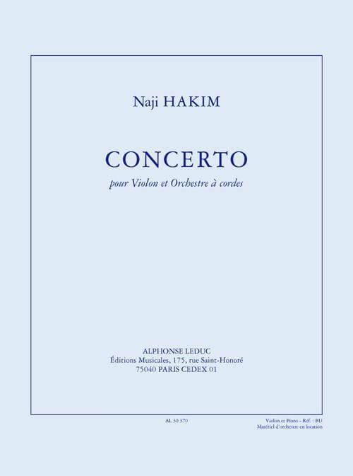 Naji Hakim - Concierto para violín y orquesta de cuerdas - Partition - di-arezzo.es