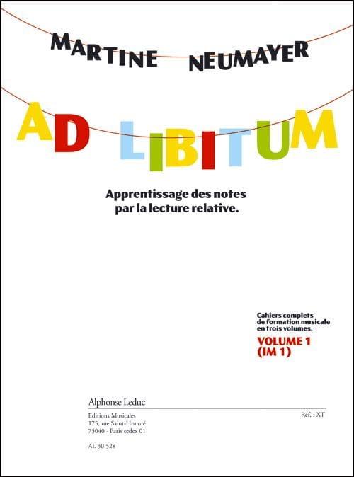 Martine Neumayer - Ad Libitum Volume 1 - IM1 - Partition - di-arezzo.co.uk