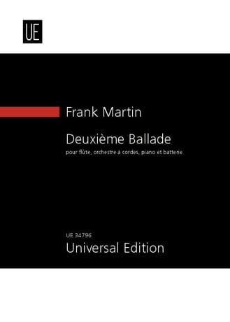 Deuxième Ballade - Franck Martin - Partition - laflutedepan.com