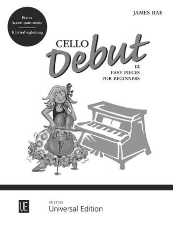Cello Début - Piano Accompaniments - James Rae - laflutedepan.com