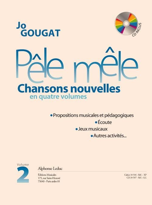 Jo Gougat - Pêle Mêle - New Songs Volume 2 - CD Included - Partition - di-arezzo.com