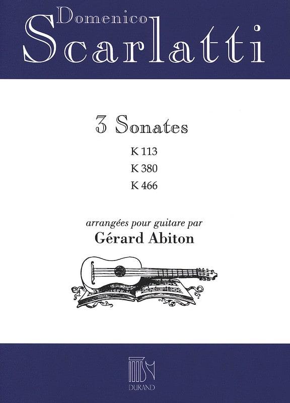 Domenico Scarlatti - 3 Sonates - K.113 / 380 / 466 - Partition - di-arezzo.fr