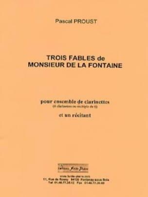 3 Fables de la Fontaine - Pascal Proust - Partition - laflutedepan.com
