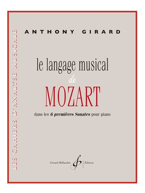 Anthony Girard - The Musical Language of Mozart - Partition - di-arezzo.com