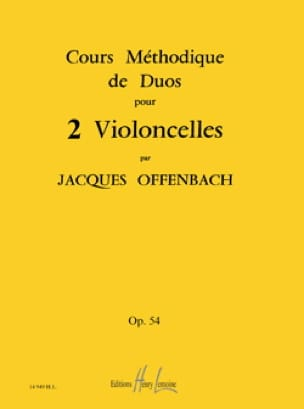 Jacques Offenbach - Duos Method Courses For 2 Op 54 Cells - Partition - di-arezzo.com