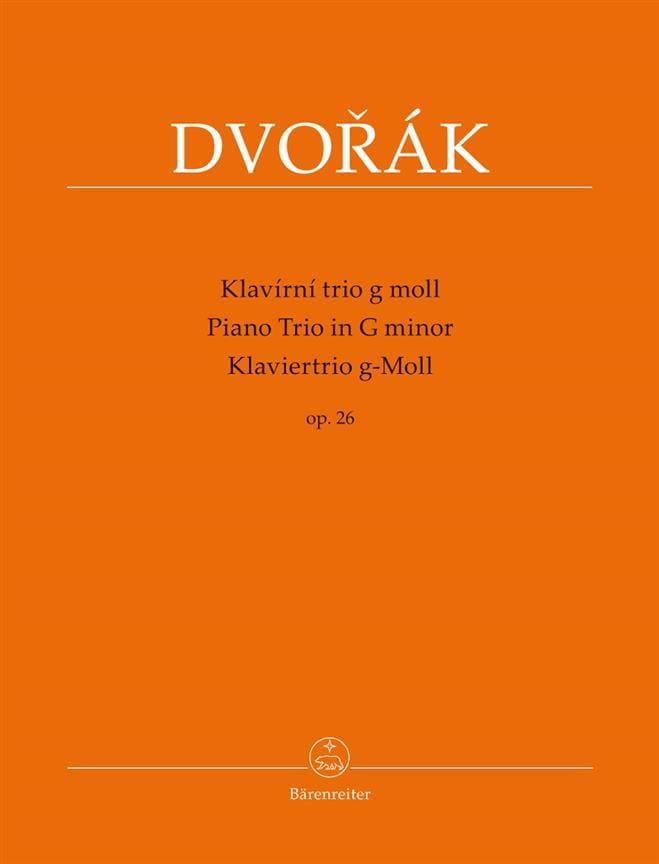 DVORAK - Trio for Piano, Violin and Cello in G Minor, Op. 26 - Partition - di-arezzo.co.uk