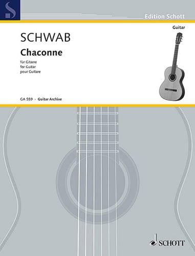 Chaconne - Siegfried Schwab - Partition - Guitare - laflutedepan.com