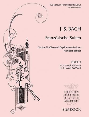 Suites Françaises N° 1 et 2 - BACH - Partition - laflutedepan.com