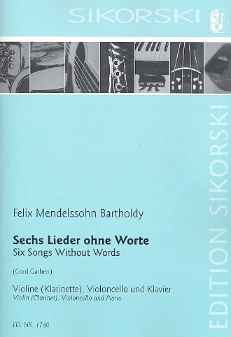 MENDELSSOHN - 6 Lieder Ohne Worte - Partition - di-arezzo.co.uk