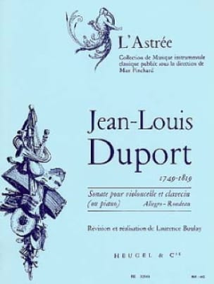 Jean Louis Duport - Cello Sonata for Cello and Piano - Partition - di-arezzo.co.uk