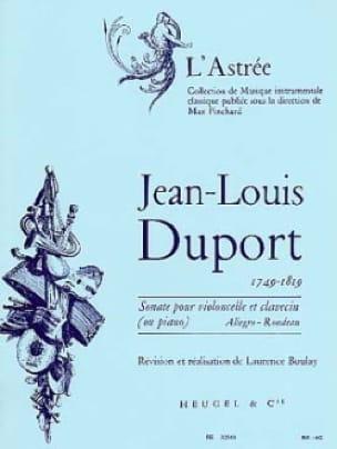 Jean Louis Duport - Cello Sonata for Cello and Piano - Partition - di-arezzo.com