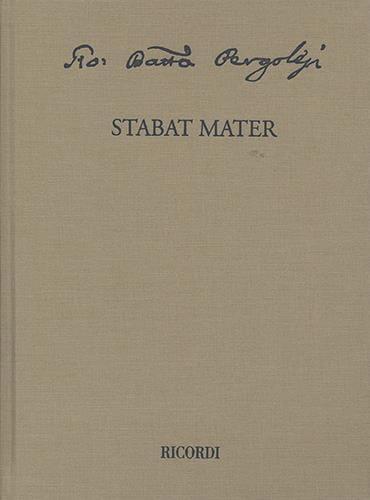Giovanni Battista Pergolesi - Stabat Mater - Partition - di-arezzo.co.uk