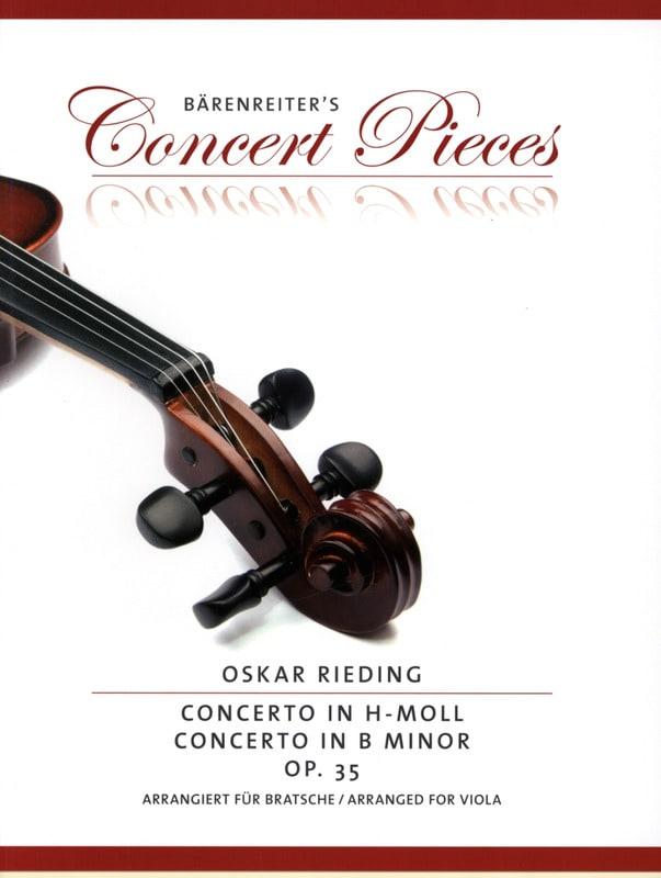 Oskar Rieding - Concerto in B flat minor, op. 35 - Partition - di-arezzo.com