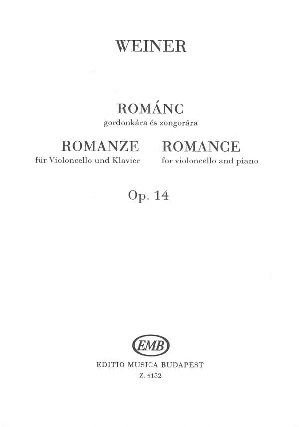Romance Op. 14 - Leo Weiner - Partition - laflutedepan.com