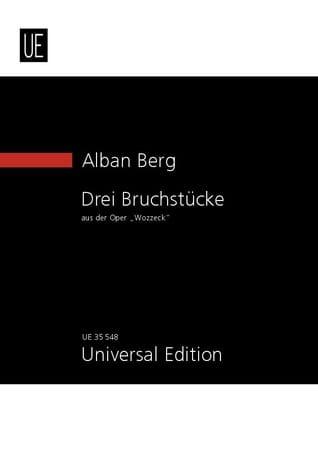 """Alban Berg - Three fragments of """"Wozzeck"""" - Partition - di-arezzo.com"""
