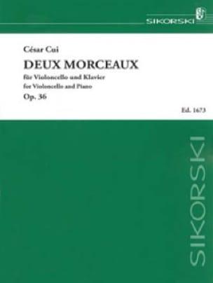 Deux morceaux Op. 36 - César Cui - Partition - laflutedepan.com