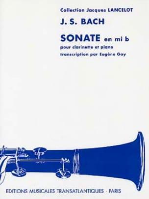 Sonate en mi bémol - BACH - Partition - Clarinette - laflutedepan.com