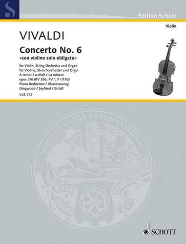 Concerto No. 6 con violino solo obligato en la mineur, op. 3/6 - laflutedepan.com