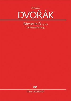 Messe en ré majeur - DVORAK - Partition - laflutedepan.com