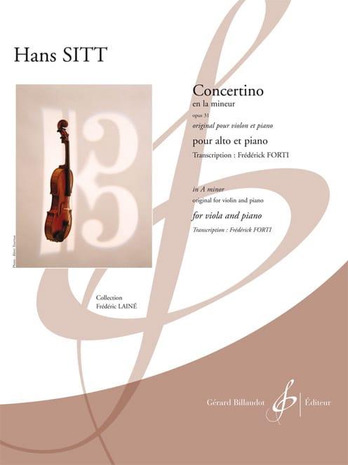 Hans Sitt - Concertino in A minor op 31 - Partition - di-arezzo.co.uk