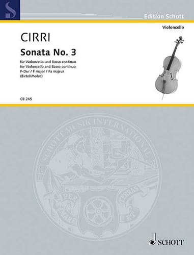 Giambattista Cirri - Sonata No. 3 in F major - Partition - di-arezzo.com