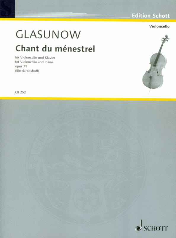 Alexandre Glazounov - Song of the minstrel, op. 71 - Partition - di-arezzo.co.uk