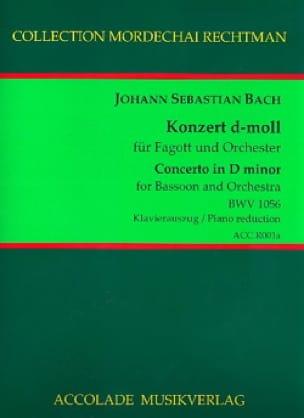 Konzert d-moll BWV 1056 für Fagott und Klavier - laflutedepan.com