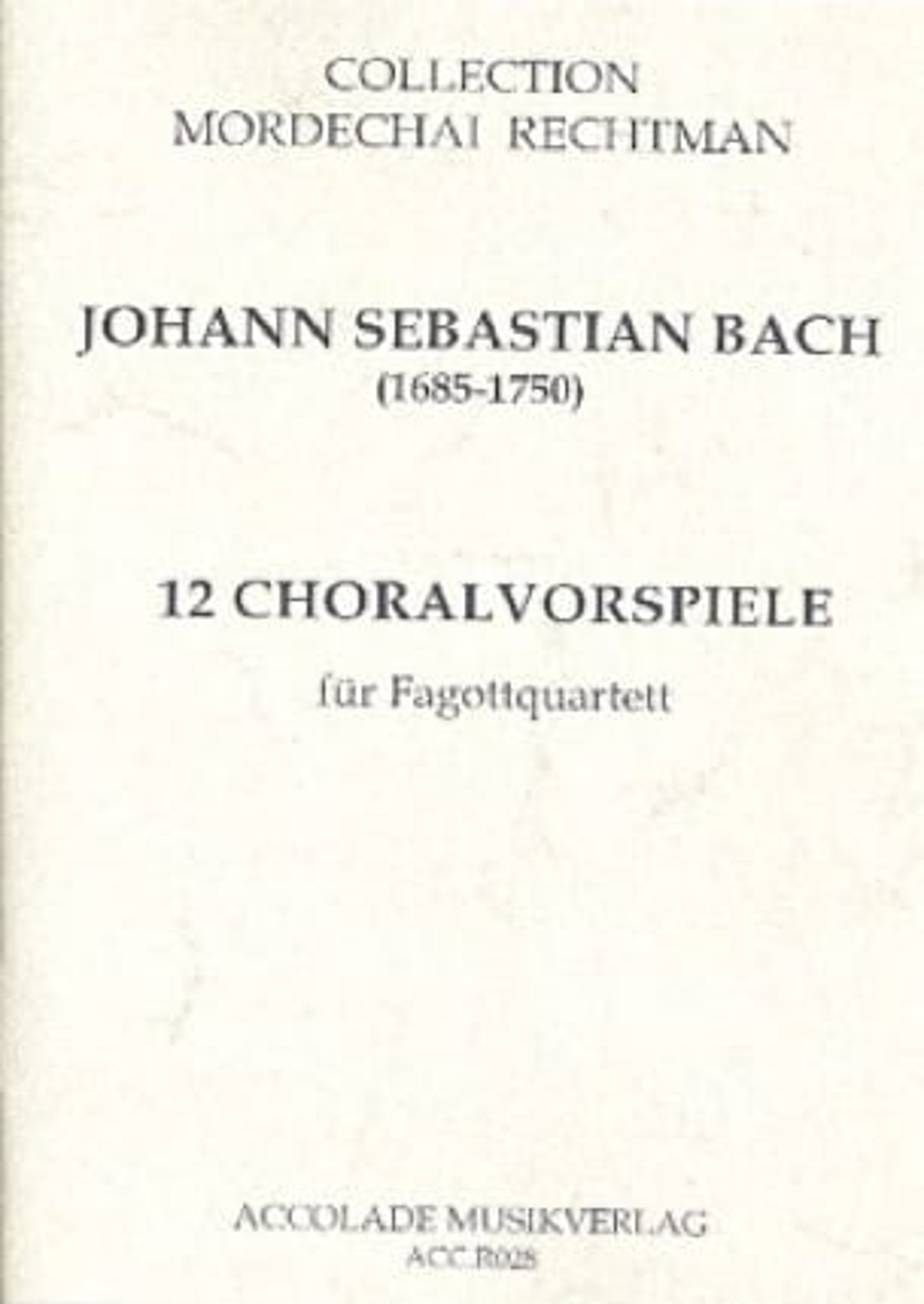 12 Choralvorspiele - Partitur mit Stimmen - BACH - laflutedepan.com