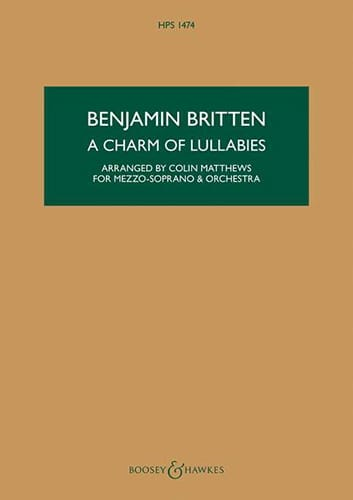 A Charm of Lullabies - BRITTEN - Partition - laflutedepan.com