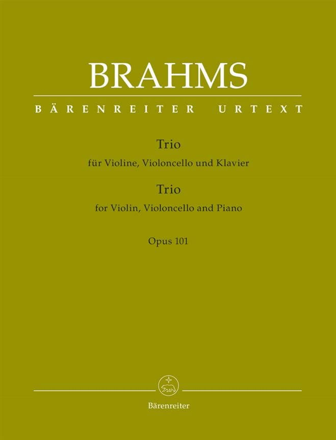 BRAHMS - Trio for violin, cello and piano, op. 101 - Partition - di-arezzo.co.uk