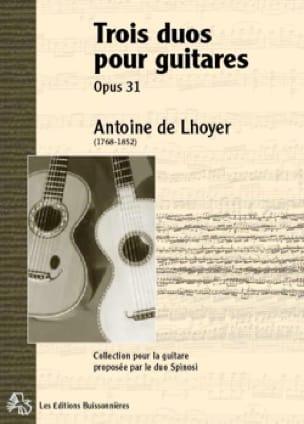 Trois Duos concertants pour 2 guitares ou lyres, op. 31 - laflutedepan.com