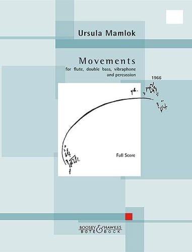 Movements - Ursula Mamlok - Partition - Quatuors - laflutedepan.com