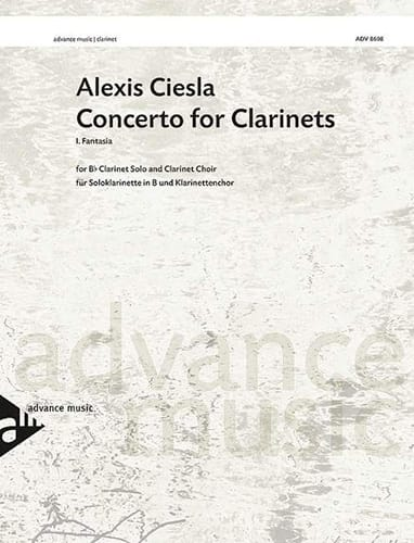 Alexis Ciesla - Concerto for Clarinets 1st mvt Fantasia - score - parts - Partition - di-arezzo.co.uk