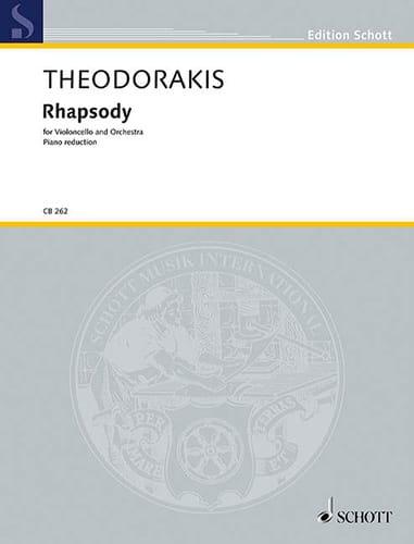 Rhapsody - THEODORAKIS - Partition - Violoncelle - laflutedepan.com