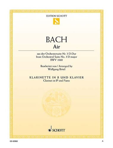 BACH - Air of Orchestral Suite No. 3 in D major, BWV 1068 - Partition - di-arezzo.co.uk