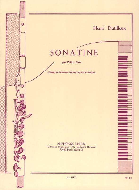 Henri Dutilleux - Sonatine - Partition - di-arezzo.co.uk