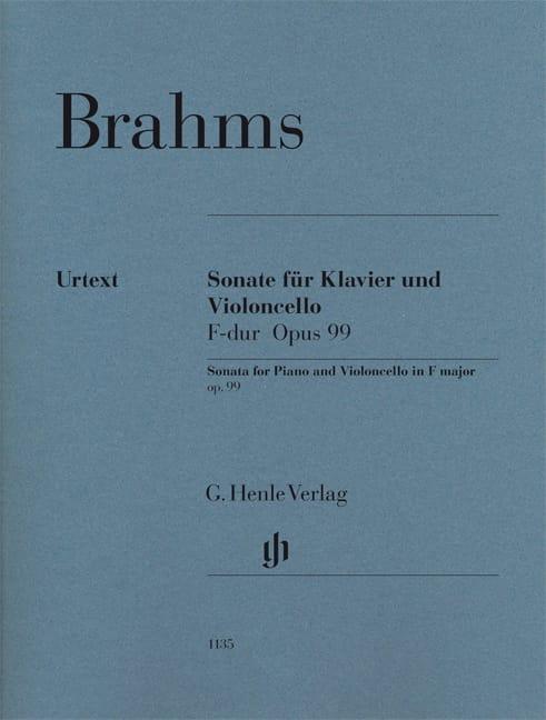 BRAHMS - Sonate pour piano et violoncelle en Fa majeur op. 99 - Partition - di-arezzo.fr