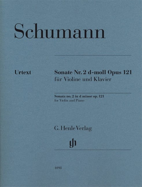 SCHUMANN - Sonata No. 2 in D minor op. 121 - Partition - di-arezzo.com