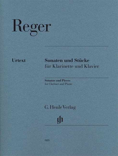 Max Reger - Sonatas and various works for clarinet and piano - Partition - di-arezzo.co.uk