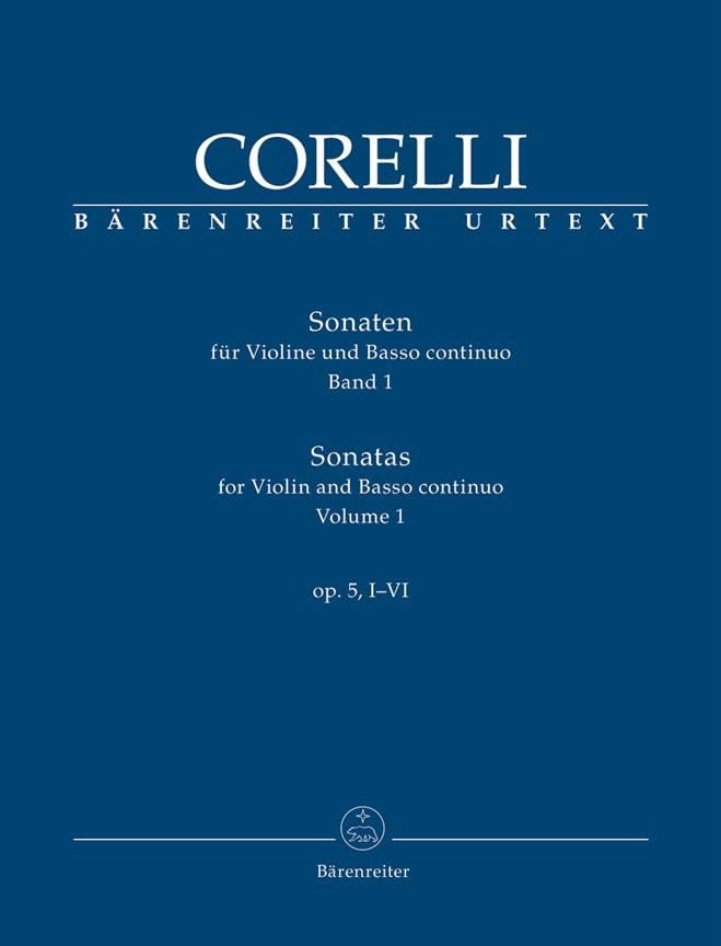 CORELLI - Sonatas for violin and continuo op. 5, I-VI - Partition - di-arezzo.co.uk
