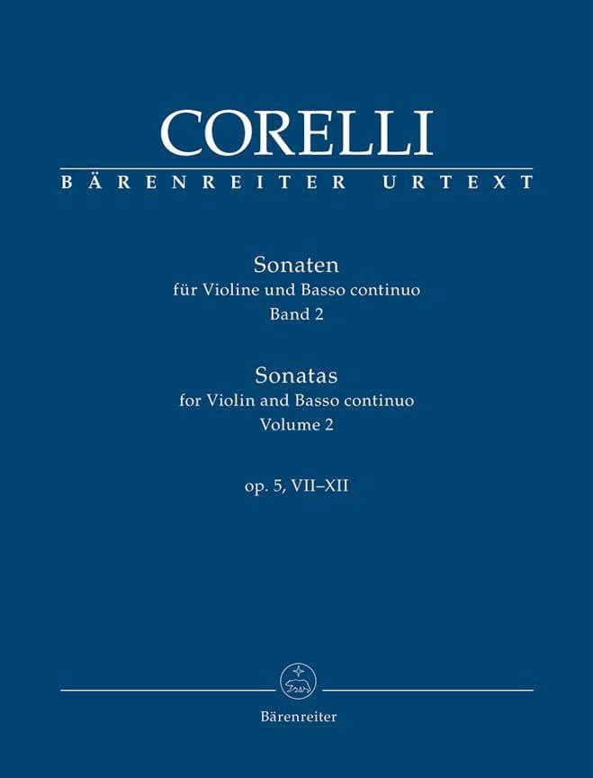 CORELLI - Sonatas for violin and continuo op. 5, VII-XII - Partition - di-arezzo.co.uk