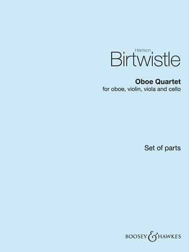 Oboe Quartet - Harrison Birtwistle - Partition - laflutedepan.com