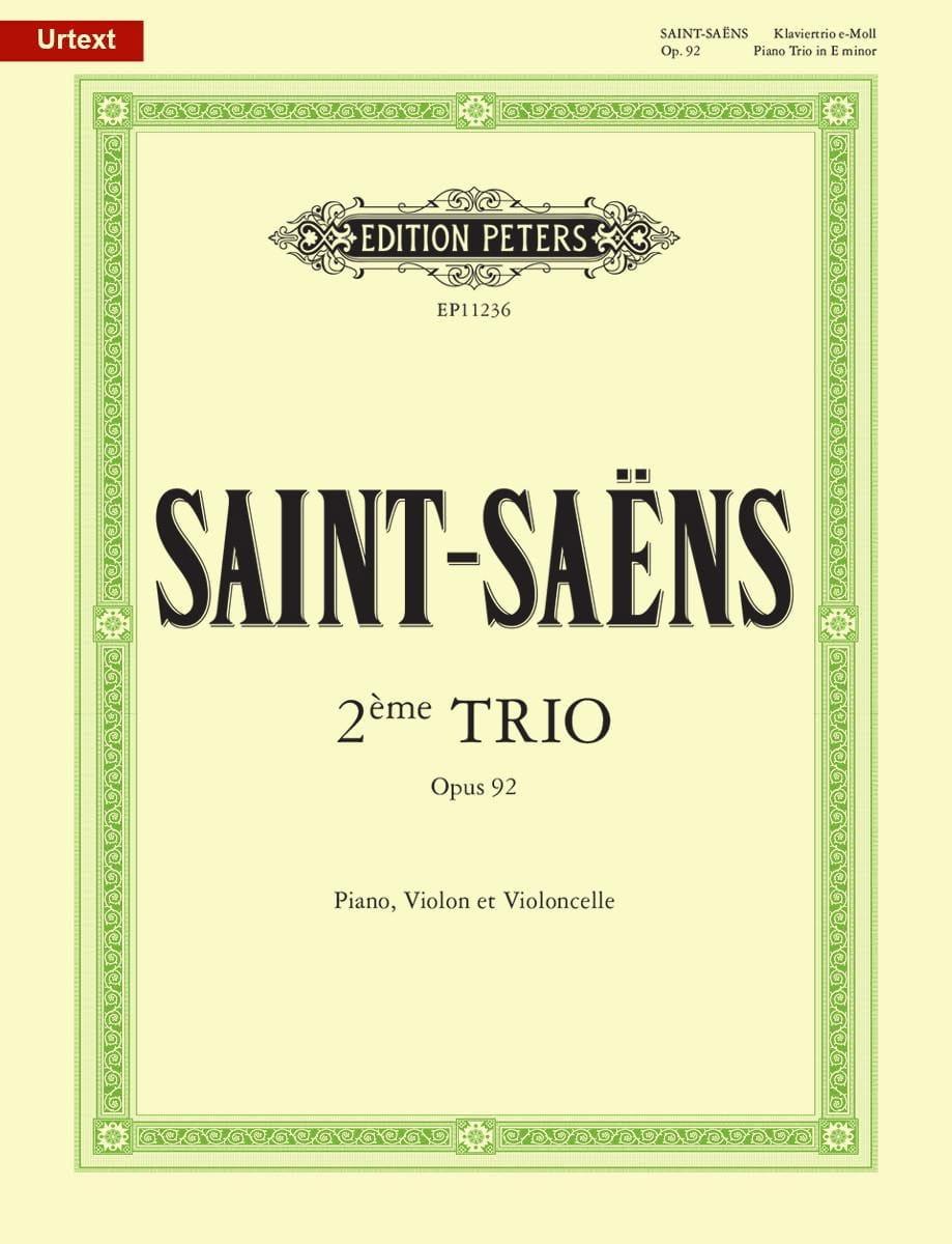 Camille Saint-Saëns - Trio with Piano No. 2 in E minor, op. 92 - Partition - di-arezzo.co.uk