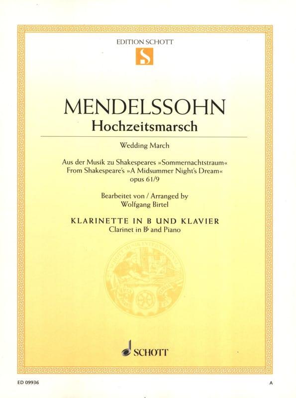 Marche nuptiale, op. 61/9 - MENDELSSOHN - Partition - laflutedepan.com