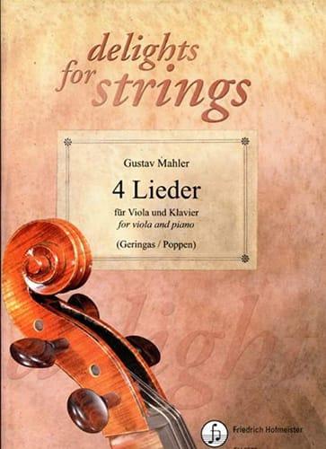 4 Lieder - MAHLER - Partition - Alto - laflutedepan.com