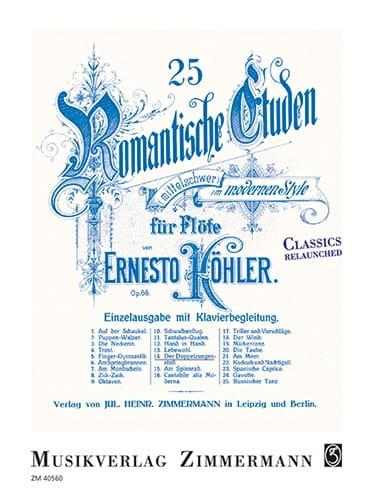 25 études romantiques op. 66 - N°14, Le double coup de langue - laflutedepan.com