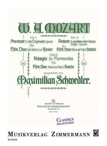 MOZART - Adagio for Harmonica, KV 356 / 617a - Partition - di-arezzo.com